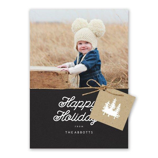 Elegant Outdoors Holiday Card