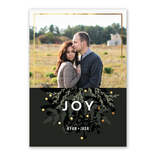 Winter Greens Foil Holiday Card