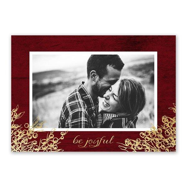 Be Joyful Foil Holiday Card