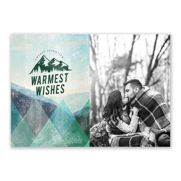 Winter Resort Holiday Card