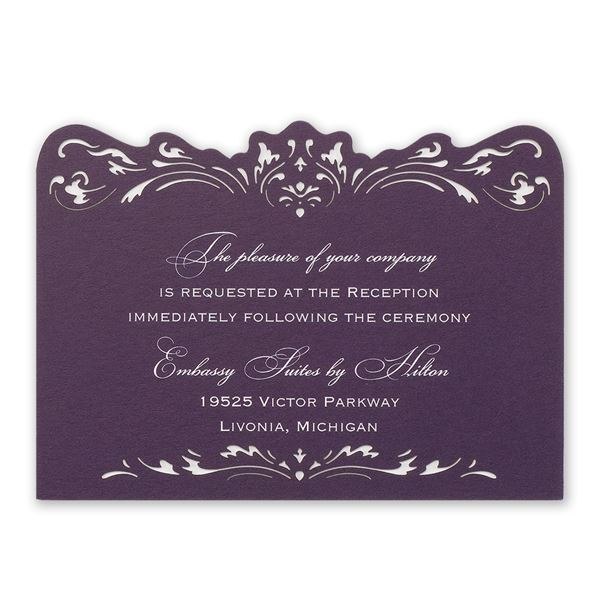 Intricate Beauty Laser Cut Reception Card