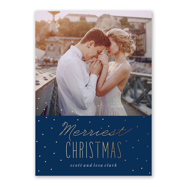 Merriest Christmas Foil Holiday Card