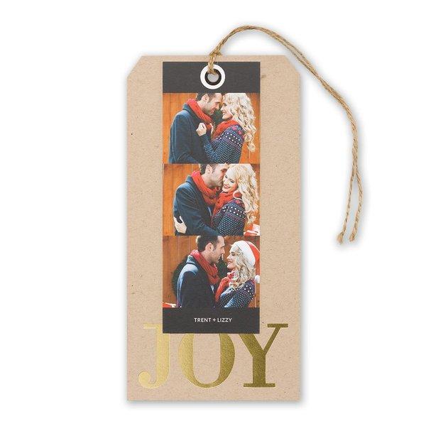 JOY Foil Holiday Card