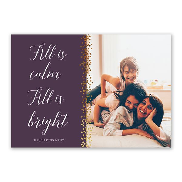 All Is Bright Foil Holiday Card