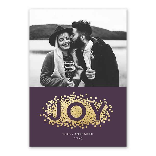Dots of Joy Foil Holiday Card