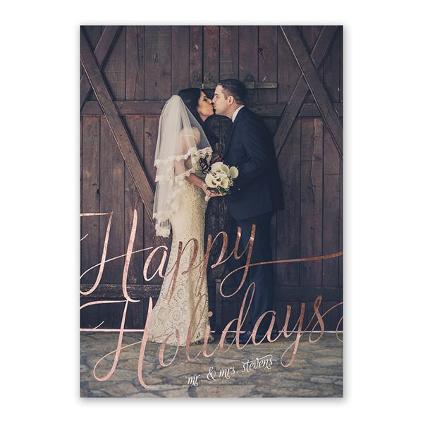 Bright Holiday Foil Holiday Card
