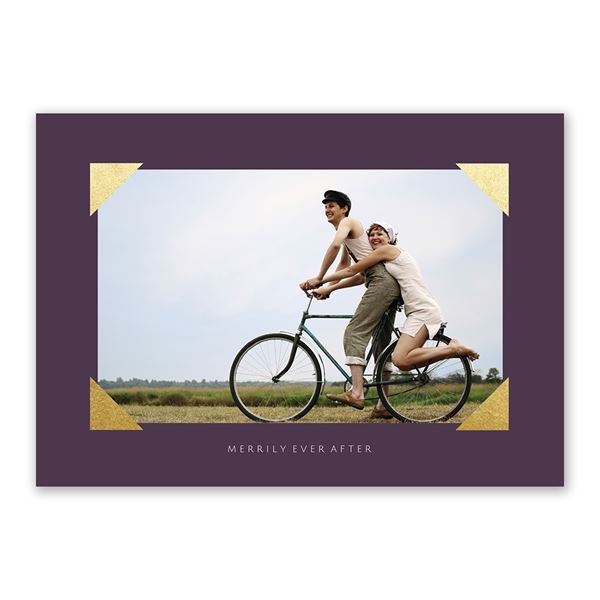 Metallic Corners Foil Holiday Card
