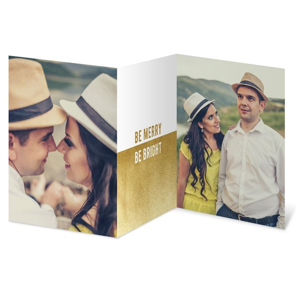 Be Bright Foil Holiday Card