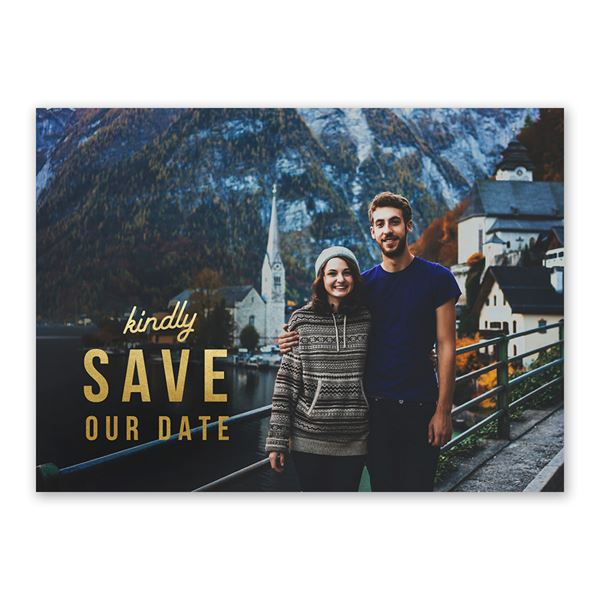 Be So Kind Foil Holiday Postcard Save the Date