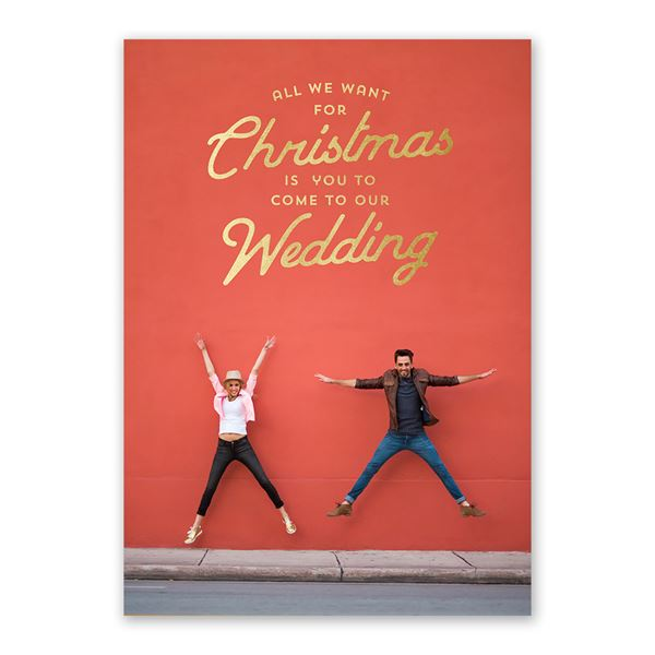 We Want You Foil Holiday Card Save the Date