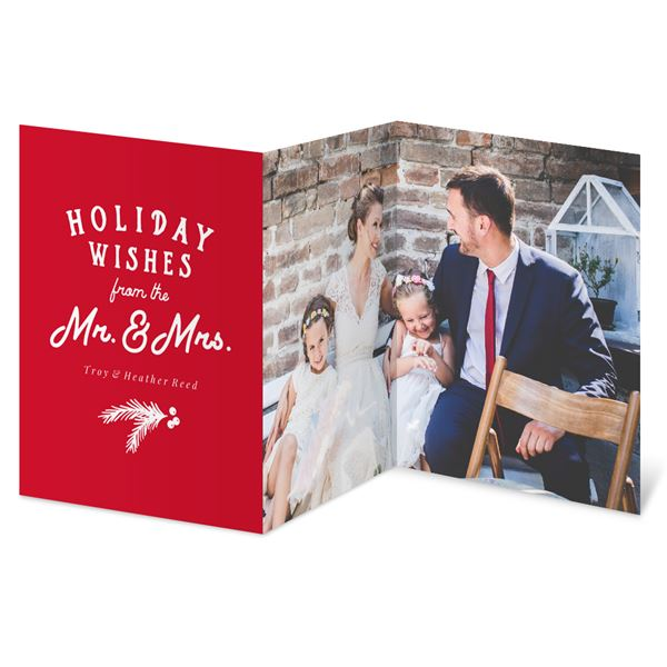Newlywed Wishes Holiday Card
