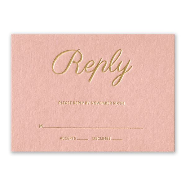 Simply Devoted Foil Response Card