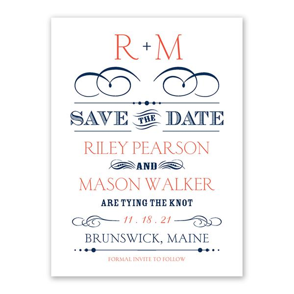 Blended Style Save the Date Card