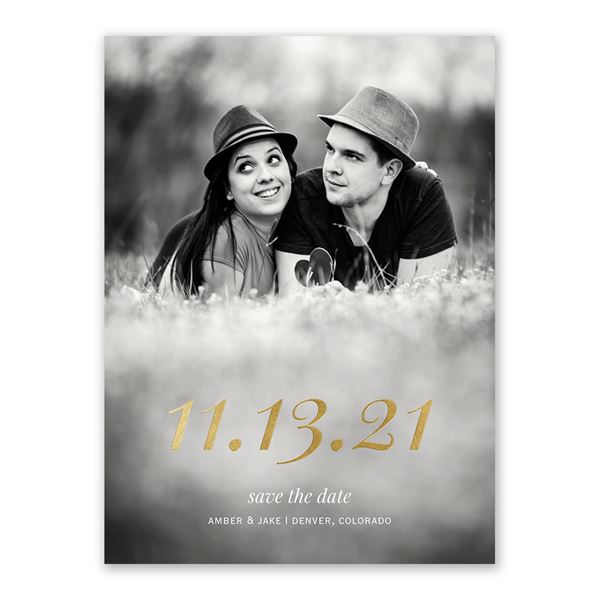 Special Date - Gold - Foil Save the Date Card