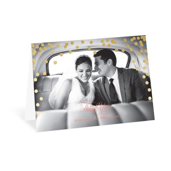 Polka Dot Glow - Gold - Foil Thank You Card