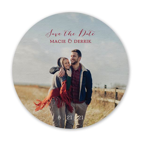 Picture Perfect Save the Date Coaster
