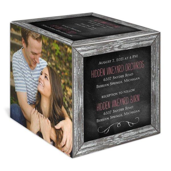 Crafted Window Photo Cube Invitation