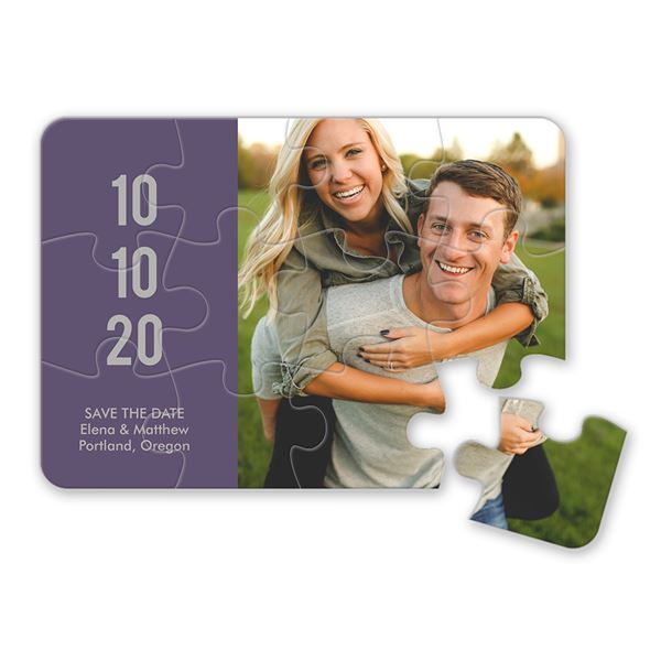 Sweet Smiles Save the Date Puzzle