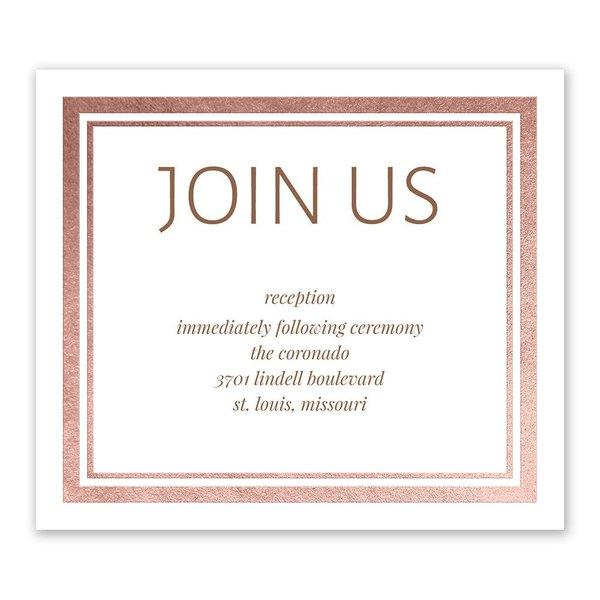 Modern Shine - Rose Gold - Foil Information Card
