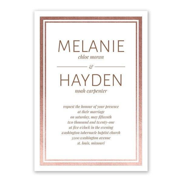 Modern Shine - Rose Gold - Foil Invitation