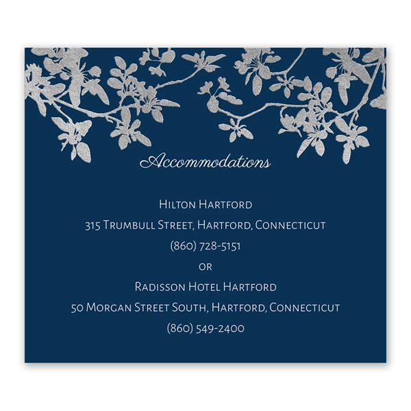 Woodland Branches - Silver - Foil Information Card