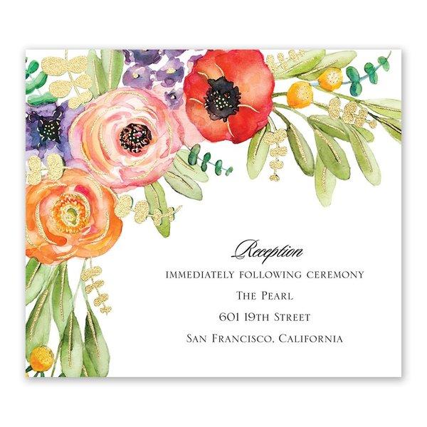 Wildflower Burst - Gold - Foil Information  Card