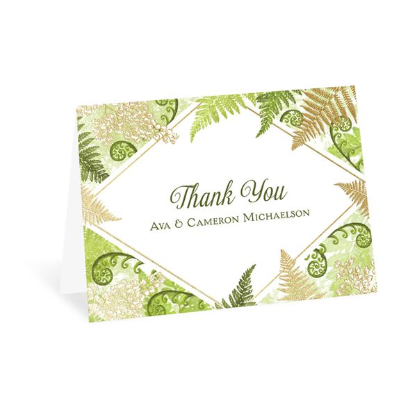 Botanical Beauty - Gold - Foil Thank You Card