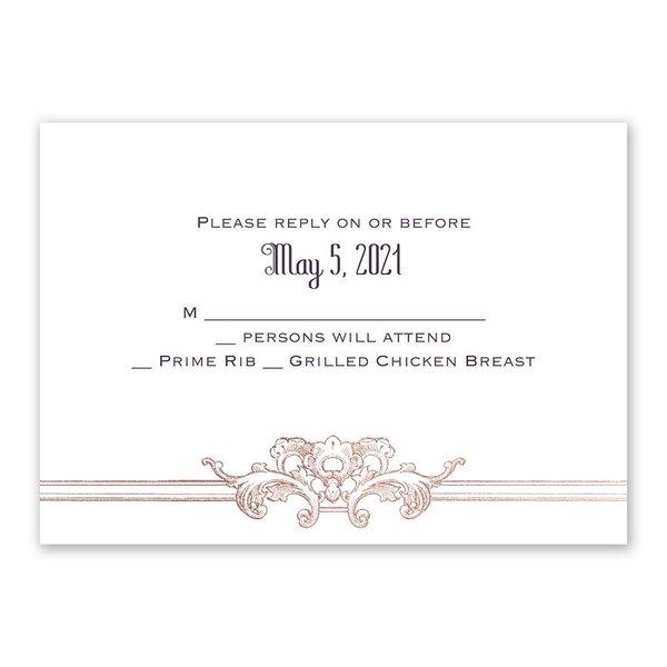 Yorkshire Romance - Rose Gold - Foil Response Card