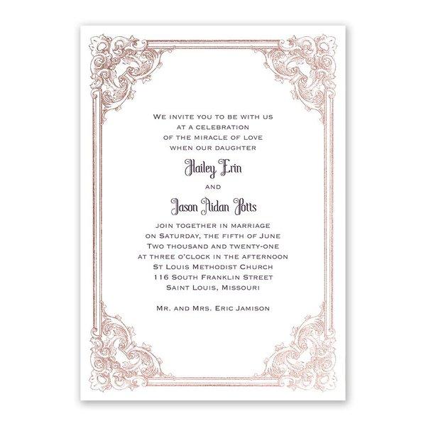 Yorkshire Romance - Rose Gold - Foil Invitation