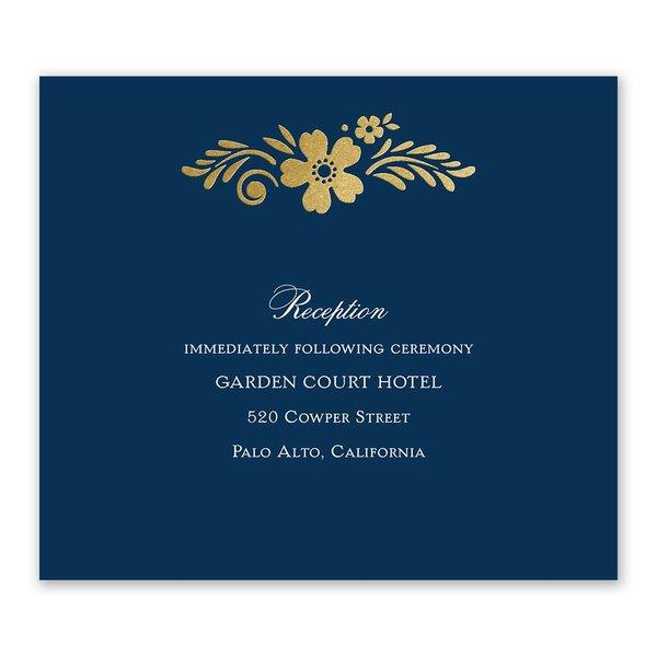 Brilliant Boho - Gold - Foil Information Card