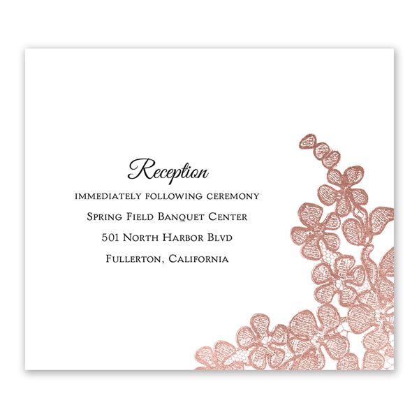 Rose Gold Blossoms Information Card