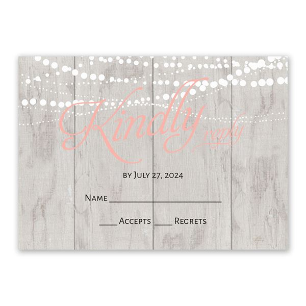 Rustic Lights Response Card