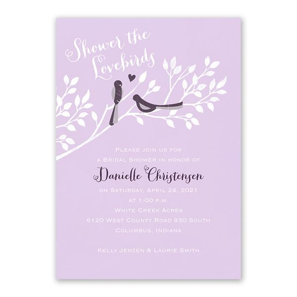 Shower the Lovebirds Bridal Shower Invitation