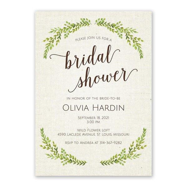 Botanical Bride Bridal Shower Invitation