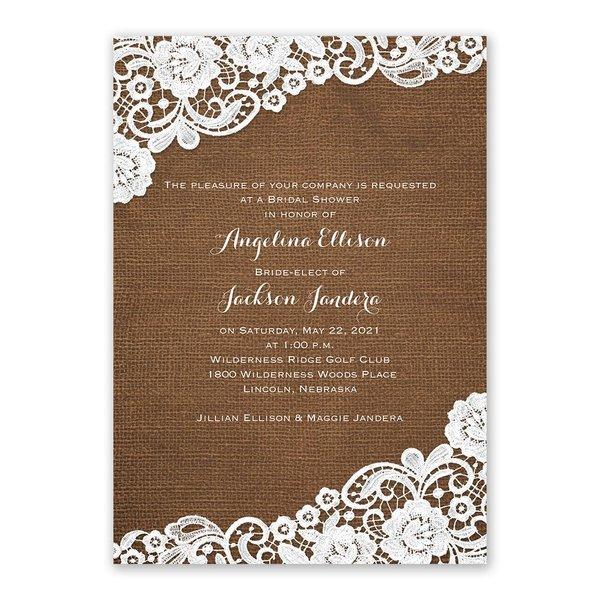 Laced Love Bridal Shower Invitation