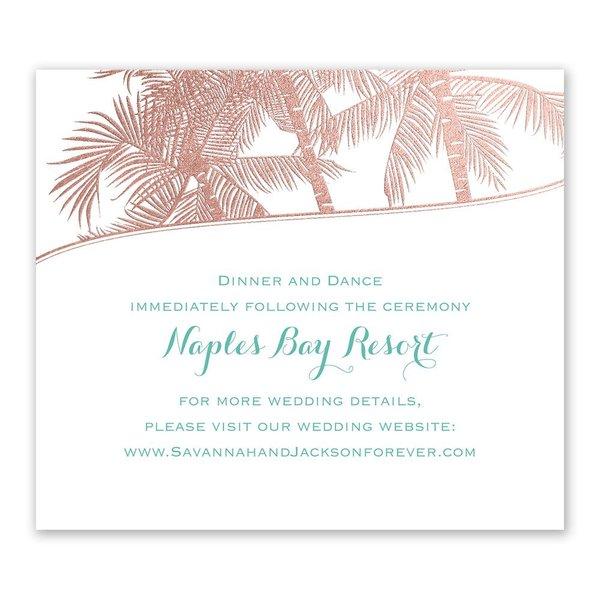 Malibu I Do - Rose Gold - Foil Information Card