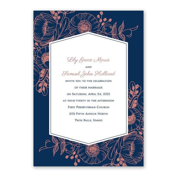 Pretty Poppies Invitation