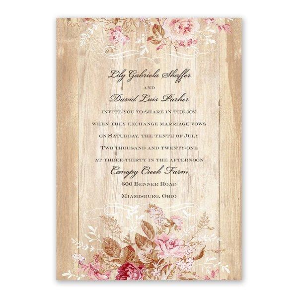 Rustic Romance Invitation