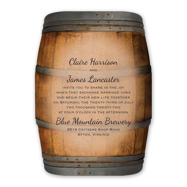 Wine Barrel Invitation