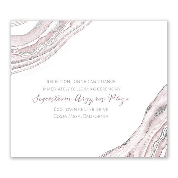 Modern Marble Silver Foil Information Card