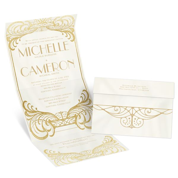 Royal Enchantment Gold Foil Seal and Send Invitation