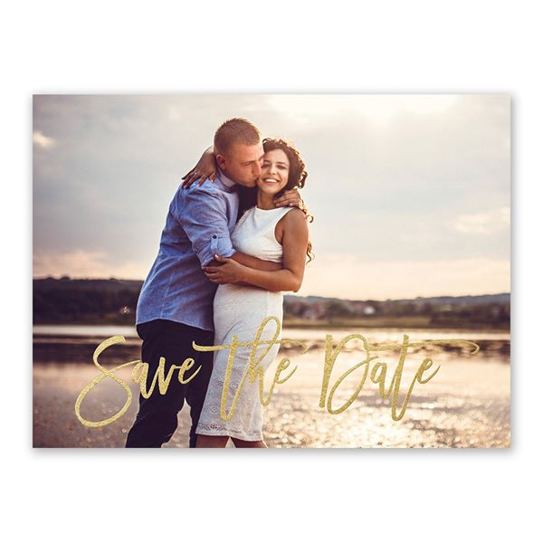 Simply Saved - Gold - Foil Save the Date Card
