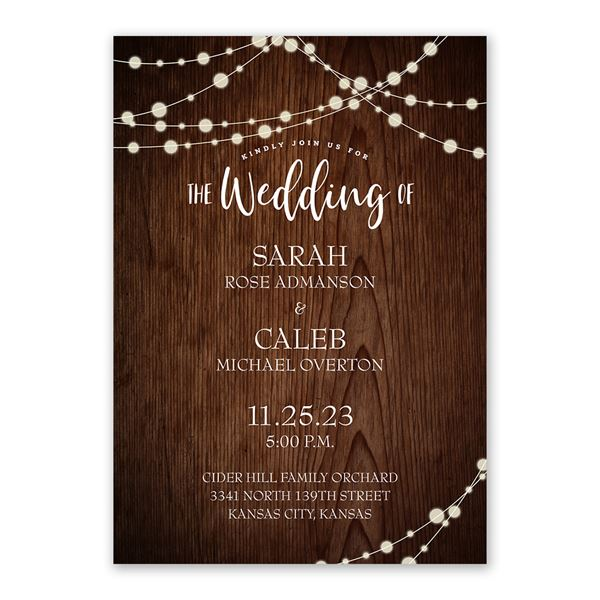 Rustic Celebration Invitation