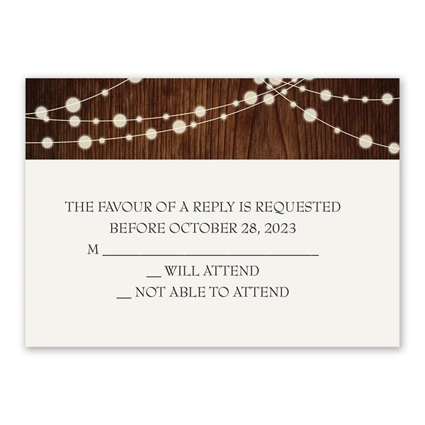 Rustic Celebration Response Card
