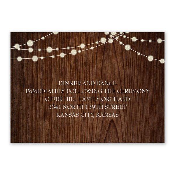 Rustic Celebration Reception Card