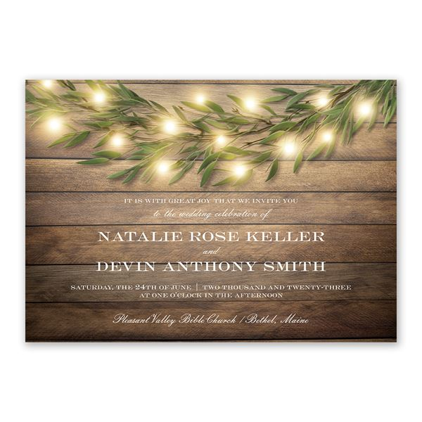Glowing Greenery Invitation