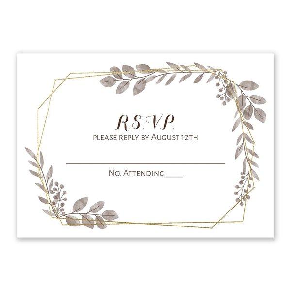 Botanical Frame -  Gold - Foil Response Card