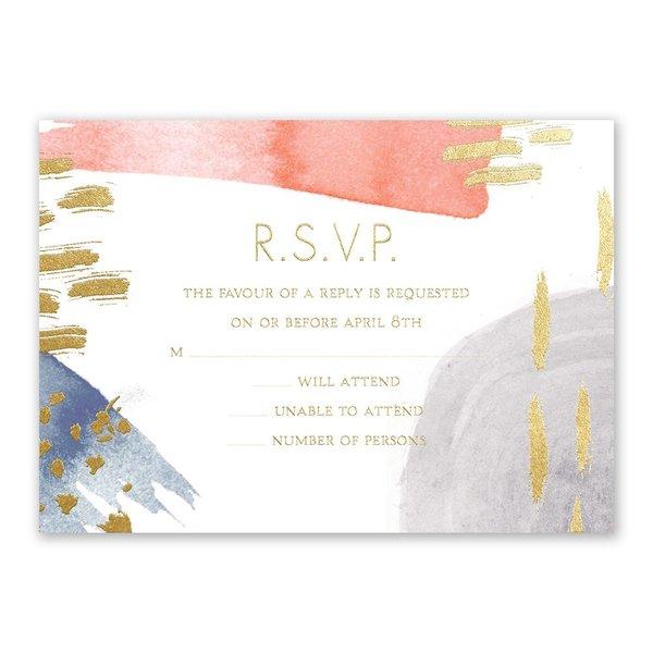 Work of Art - Gold - Foil Response Card