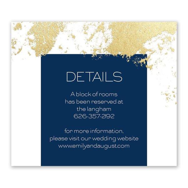 Style Splash - Gold - Foil Information Card