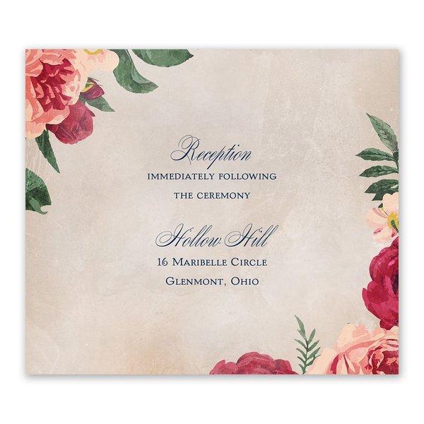 Floral Flourish Information Card